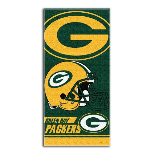 NFL Green Bay Packers Double Covered Beach Towel, 28 x 58-Inch