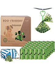 Hondenpoepzakken - Unipampa Extra dikke poepzakken voor honden, 36 rollen (540 hondenpoepzakken) +1 dispenser - geurende, lekvrije, biologisch afbreekbare poezakken voor honden, ongeparfumeerde afvalzak (36 rol)