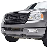 E-Autogrilles Glossy Black ABS Replacement Grille Grill with Shell for 04-08 Ford F-150 (1PC) (41-0131B)
