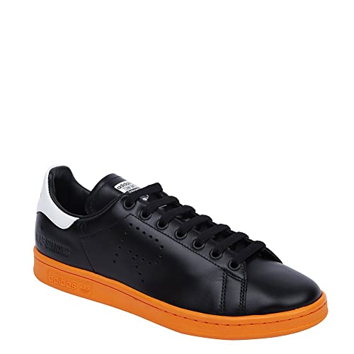 the best attitude cd1a5 e0676 Adidas X RAF Simons Men s Stan Smith Sneakers BB2647 Black White Orange SZ  10.5