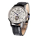 Ingersoll IN4411WH Men's Black Leather Strap Band White Dial Watch