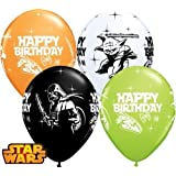 "Star Wars Happy Birthday 11"" Qualatex Latex Balloons x 5"