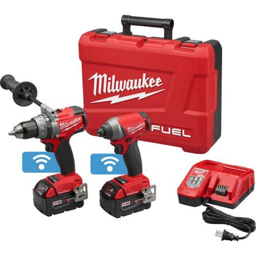 Milwaukee 2796-22 Fuel 18-Volt Lithium-Ion Brushless Cordless Hammer Drill/Impact Driver Combo Kit by Milwaukee