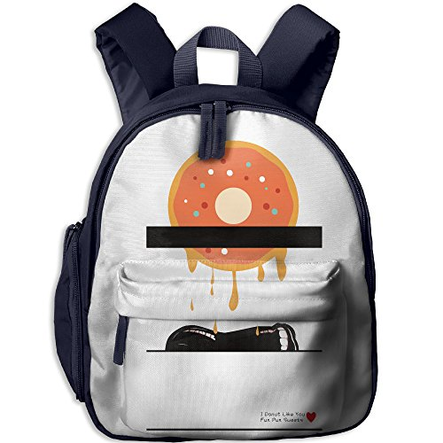 Food Puns Costumes (Casual Daypack Cute Shoulder Bag For Children I Donut Like You Fun Pun Sweets Girl Class Gift New JOYLIAN)