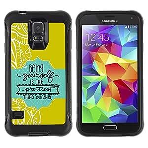 """Pulsar iFace Series Tpu silicona Carcasa Funda Case para Samsung Galaxy S5 V , Citar Texto verde del bebé azul"""""""