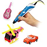 Soyan 3D Pen for Arts and Crafts, 3D Molding, Sculpting and Doodling (Blue)