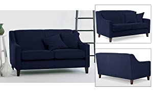 Furny Alia Two Seater Sofa (Dark Blue)