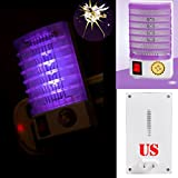 Tpingfe LED Socket Electric Mosquito Fly Bug Insect Trap Killer Zapper Night Lamp Lights (Purple)