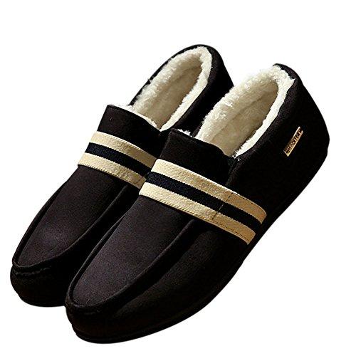 de Mocasines Aire Deylaying Plano Zapatos Cuero Negro Libre Calzado Hombre 2 Moda Al Casuales wYg6HRgx