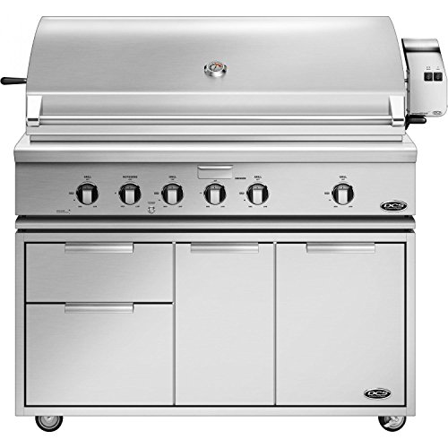 Dcs Professional 48-inch Freestanding Natural Gas Grill With Rotisserie On Dcs Cad Cart - Bh1-48r-n