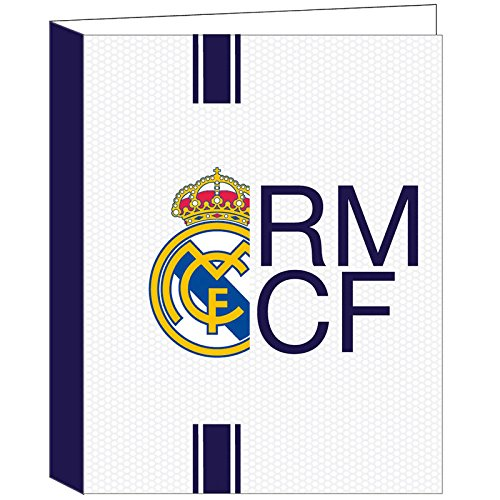 Real Madrid - Lote de 2 archivadores A4 4 anillos Best Club Real Madrid: Amazon.es: Oficina y papelería