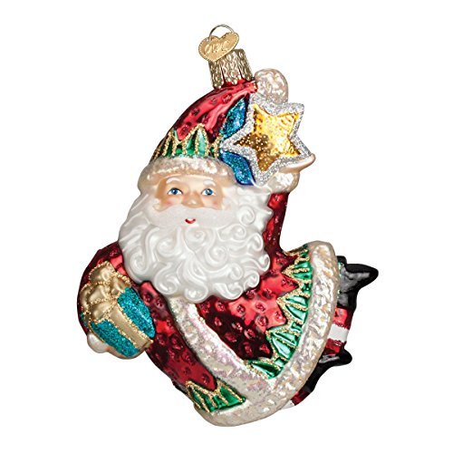 Old World Christmas Wish Upon A Star Santa Glass Blown Ornament Star Santa Ornament