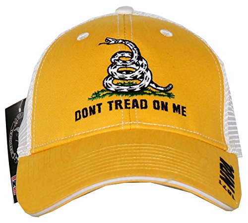 NRA Men's Don't Tread On Me Adjustable Trucker Hat Yellow