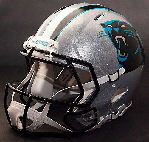 Replica Panthers Helmet Riddell Carolina (Riddell Speed CAROLINA PANTHERS NFL REPLICA Football Helmet with CU-S2BD-SW Football Helmet Facemask/Faceguard (Odell Beckham Jr. style))
