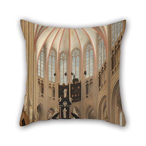 [Uloveme Pillowcover 18 X 18 Inches / 45 By 45 Cm(both Sides) Nice Choice For Husband,coffee House,couples,christmas,kitchen Oil Painting Pieter Jansz Saenredam - Cathedral Of Saint John At] (The Pope Costume At The White House)