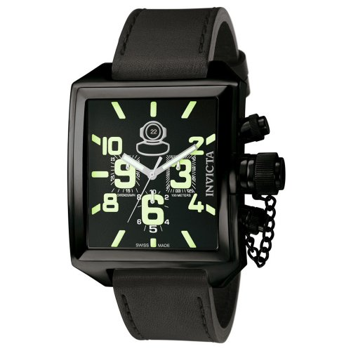 Invicta Men's 7185 Signature Collection Russian Diver Black Ion-Plated Chronograph Watch