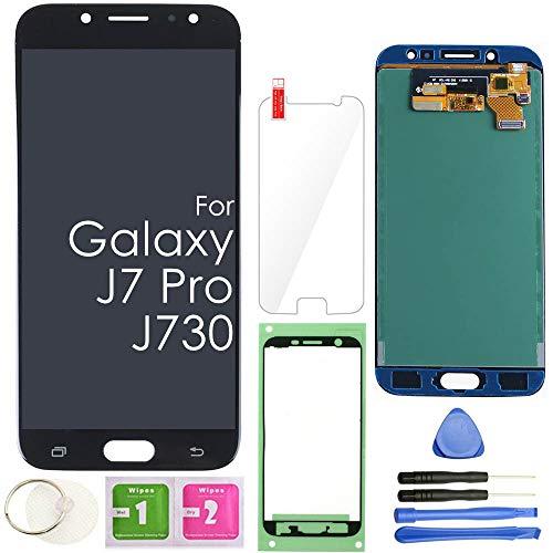 J7 PRO LCD Screen Replacement Touch Display Digitizer Assembly (Black) for Samsung Galaxy J730 2017 J730G J730F SM-J730F/DSM J730FM/DSM J730G/DS J730GM/DS