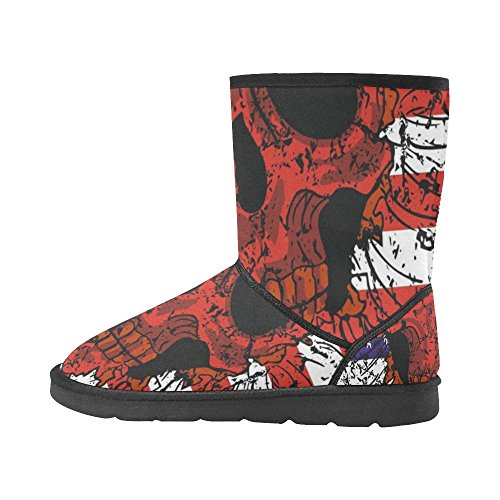 InterestPrint LEINTEREST American flag skull Snow Boots Fashion Shoes For Men pBGvynZi