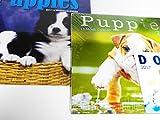 2017 Two Puppies Wall Calendars + Mini Dogs Calendar Labrador Spaniel Shepard Terrier Beagle Pug and More Bundle