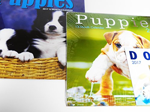 2017-two-puppies-wall-calendars-mini-dogs-calendar-labrador-spaniel-shepard-terrier-beagle-pug-and-m