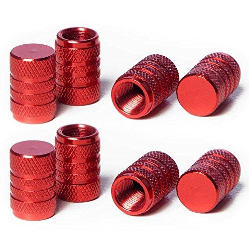 Circuit Performance VC1 Series Red Aluminum Valve Stem Caps (8 Pieces)