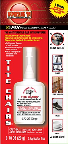 Wonderlockking W2081 Tite Chairs by PC Products, Instant Loose Chair Joint & Furniture Repair Adhesive, 20 Gram Bottle (Furniture Wooden Shops)