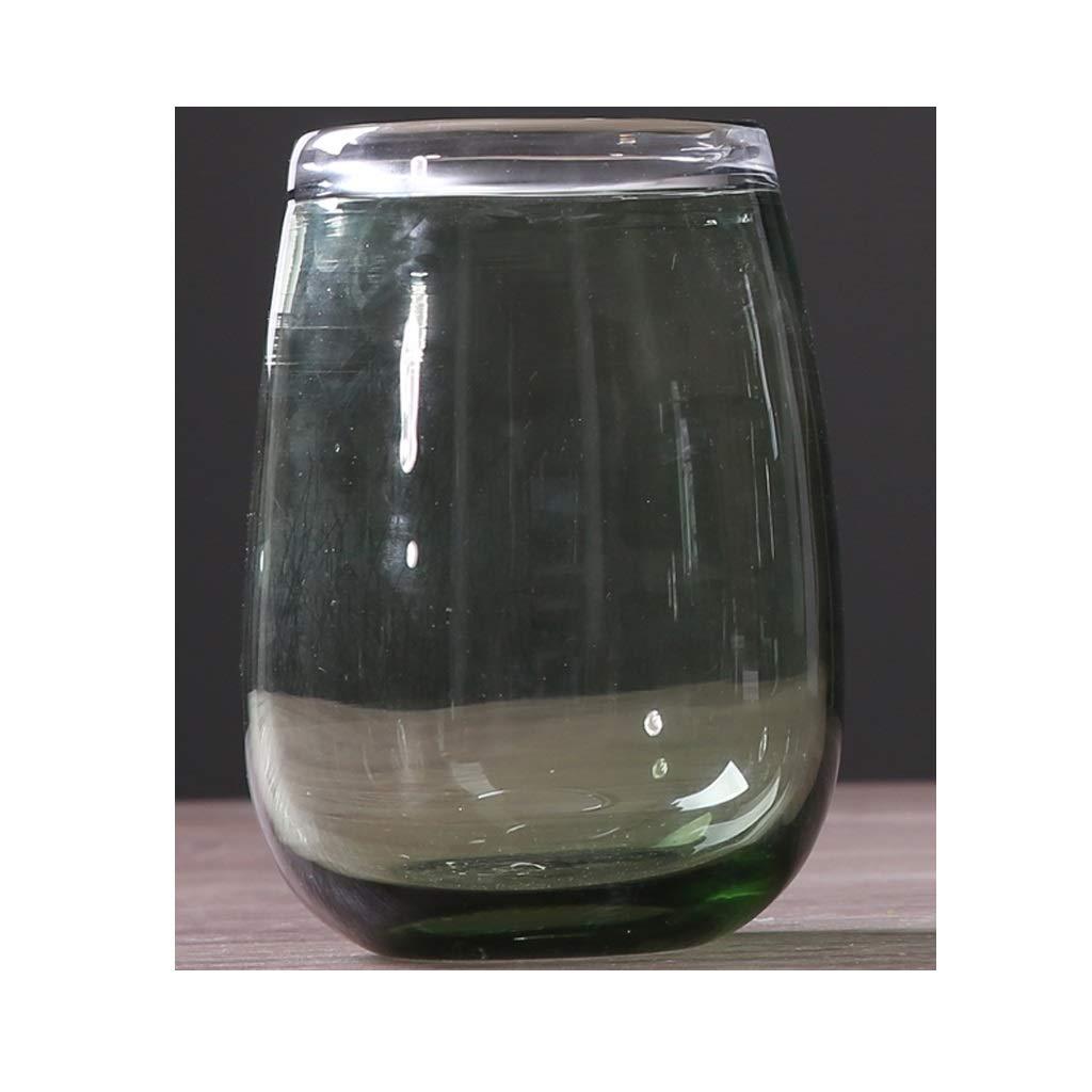 HBJP 北欧のシンプルな透明ガラス花瓶のリビングルームの家の装飾のフラワーアレンジメント 花瓶 (サイズ さいず : CHigh23CM) B07S3RZ26B  CHigh23CM