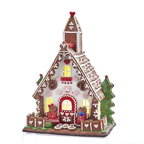 Kurt Adler Gingerbread - Kurt Adler Kurt S. Adler 10-Inch Battery-Operated LED Gingerbread House Table Piece, Multi