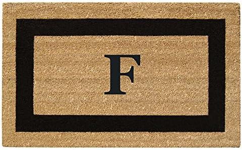 Nedia Home Monogrammed F Superscraper Single Picture Frame, 20 x 36 , Black