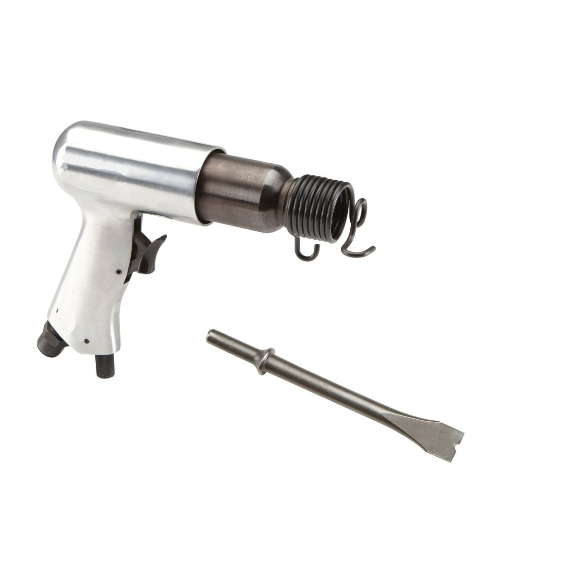 New Die Cast Aluminum Air Impact Hammer Built-In air Regulator (Medium Barrel) ideal for Cutting Metal Remove Fastener Heads Bolts Auto Cars Trucks SUV Engine Mechanic Works (comes with chisel)
