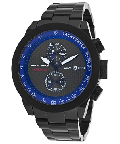 Glam Rock Grt29115f-Br Men's Air Race Racetrack Chrono Black Aluminum Black Dial Watch