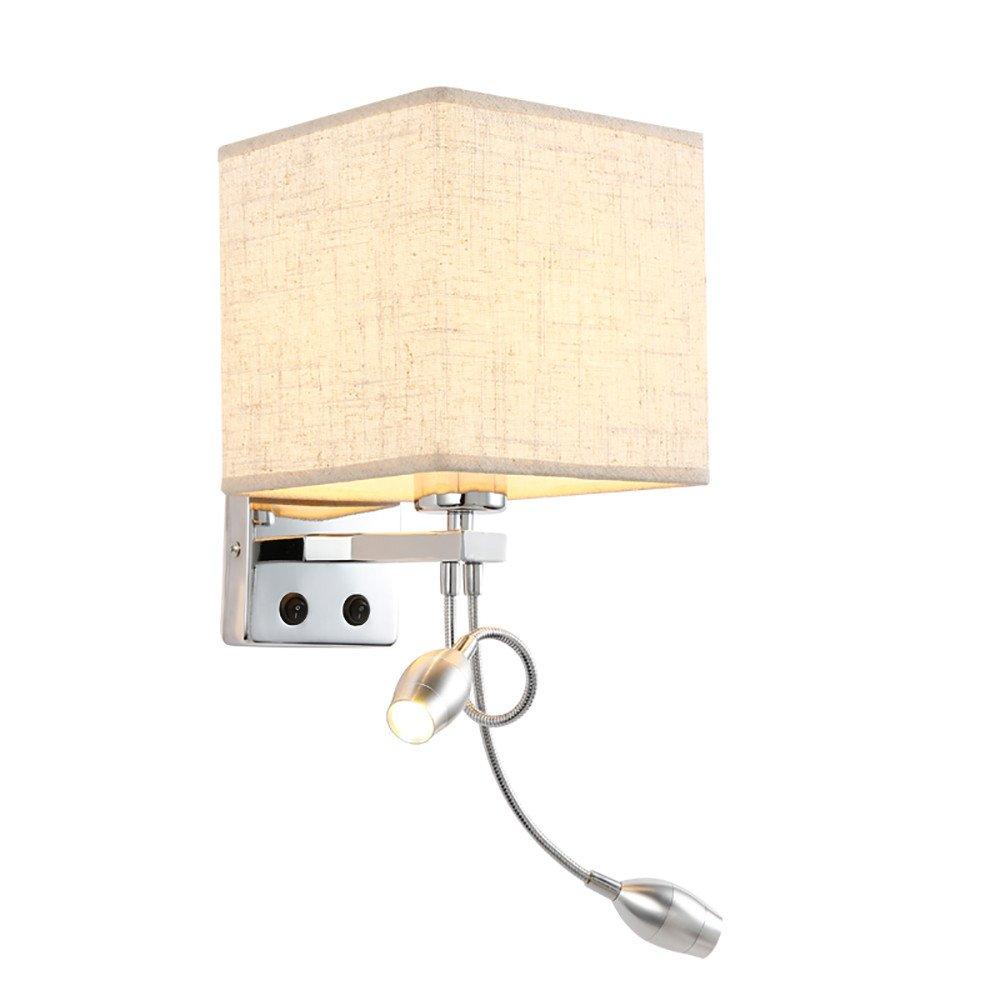 Wall lamp bracket light Wandlampe Wand Lampe Klammer Licht Wandlichter Wandbeleuchtung Sconces Nachttischlampe Schlafzimmer modern minimalistisch Hotel kreativ Leselicht Leinen Doppelrohr