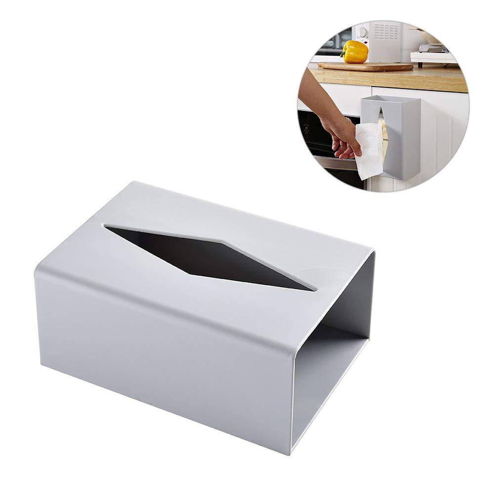19x13x8.5cm Topathy Bo/îte /à mouchoirs murale adh/ésive pour cuisine et papier toilette Blanc gris
