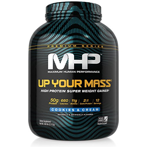 (MHP Up Your Mass High Protein Super Weight Gainer, Cookies and Cream, 4.6)
