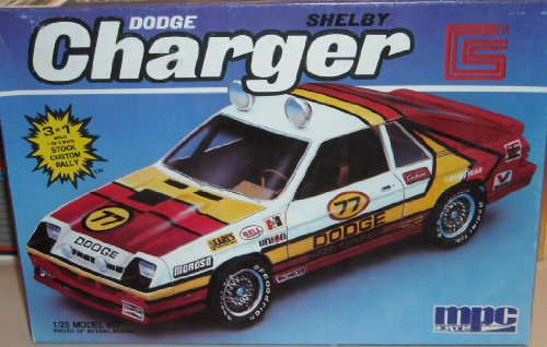 MPC 6393 1987 Dodge Shelby Charger 1/25 Scale Plastic Model Kit