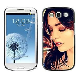 Caucho caso de Shell duro de la cubierta de accesorios de protección BY RAYDREAMMM - Samsung Galaxy S3 I9300 - Beautiful Woman Hair Face Lips Sexy