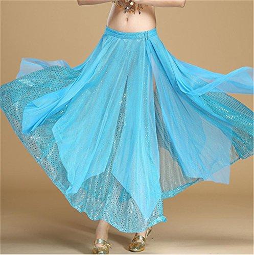 blue du de danse jupe lake grande danse ventre la femme Jupe de jupe de qHUOxwHFE