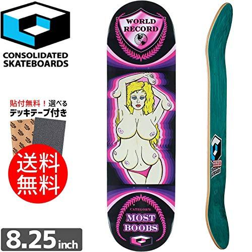 CONSOLIDATED デッキ コンソリデーテッド スケートボード デッキ TEAM MOST TEAM BOOBS MOST DECK[8.25インチ]NO18 8.25インチ/7プライ B07NDXJH31, 韓国商品館:e5c9d6a6 --- anime-portal.club