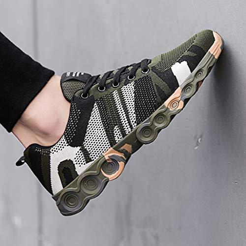Luoluoluo Shoes Voyage Sports Léger Homme Randonnée Souple Kaki Outdoor Loisirs Travail Course De Chaussures Sneakers Casual Plats Respirant rqrPaI