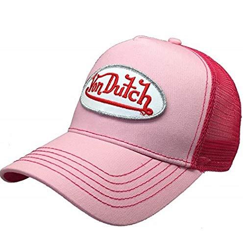 Elite Embroidered Hat - Von Dutch Original Women Fashion Hat Logo Design Pink Red