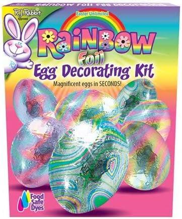 RAINBOW FOIL Easter EGG DECORATING KIT