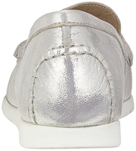 Caprice 24251, Mocasines para Mujer Blanco (Offwht Glitter)