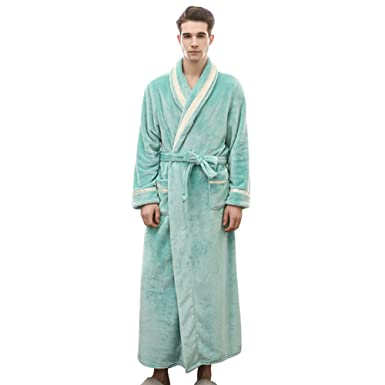 0ee161aaa95 Womens Men Couple Solid Colored Flannel Robe