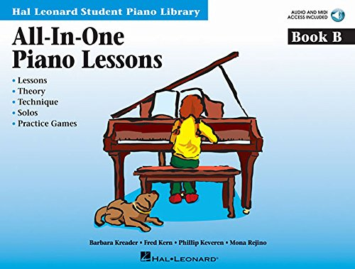 All-In-One Piano Lessons Book B: Book with Audio and MIDI Access Included (Hal Leonard Student Piano Library (Songbooks))