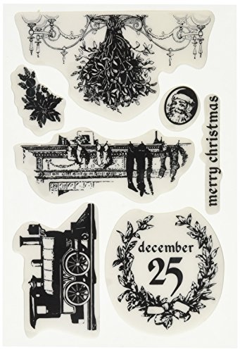 Prima Marketing Cling Stamp - a Victorian Christmas Scrapbooking Supply