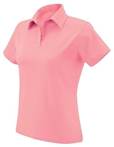 Devon & Jones Polo elástico para Mujer - Rosado - Medium: Amazon ...