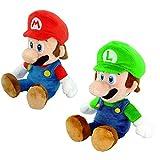YODE 32cm Super Mario Bros. Mario Luigi Plush Green and Red Stuffed Soft