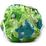 Nageuret Premium Reusable Baby Swim Diapers By Beau & Belle Littles. Washable, Adjustable Fits Babies 0-36 Months, 8-36 Lbs. CPSIA Certified, Makes a Great Gift for New Parents and Swimming Lessons! (Sea Turtles)
