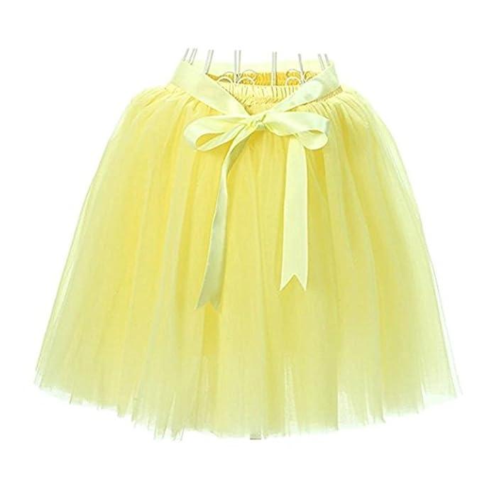 FuweiEncore Falda de Ballet Tutú de Tul Falda Corta de los Años 50 Colores  Variados para a7a0321f267