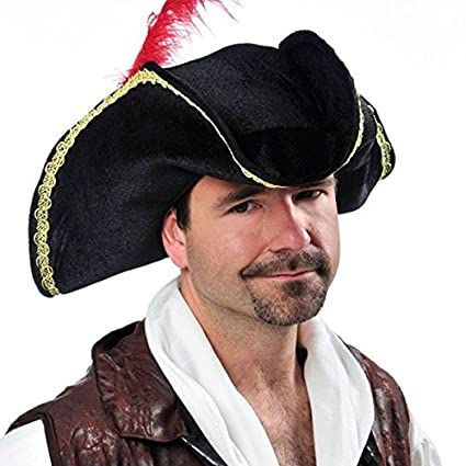 Amazon.com  Bucaneer Hat - Fancy Pirate Costume Accessory  Toys   Games 0761fbcc916d